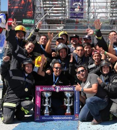Chillán Fire Woman y Chillán Fireboys son los ganadores del Desafío Bomberos de Chile Zona Central 2018