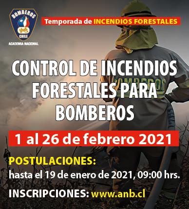 "Se extiende Segunda Convocatoria para curso de ""Control de Incendios Forestales para Bomberos"""