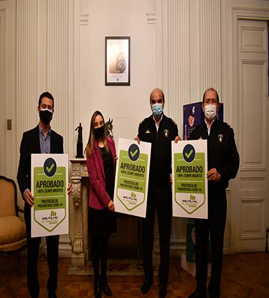 Mutual de Seguridad otorgó Sello Verde a Bomberos de Chile por sus protocolos Covid-19